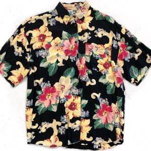 [Vintage] 80s Krazy Kat Tropical Loose Shirt